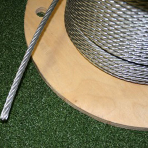 "1/4"" Galvanized Steel Cables for Indoor Batting Cages"