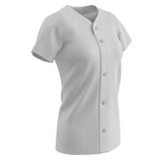 Champro Women's Full-Button Short Sleeve Jersey - JUICE