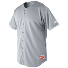 Rawlings Plated Plus Men's Full Button Jersey