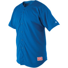 Rawlings Pin-Dot Mesh Full Button Jersey