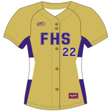 Rawlings WHAFB Full Button Front Jersey