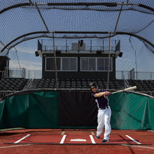 The Batting Mat Pro Clay Color Batting Mat from On Deck Sports