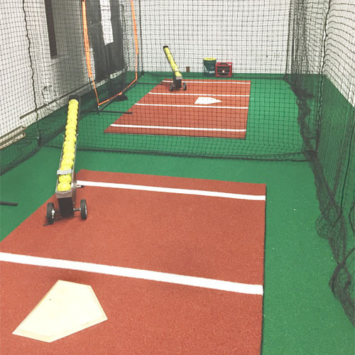 Batting Mat Pro Padded Hitting Mat with Clay Color