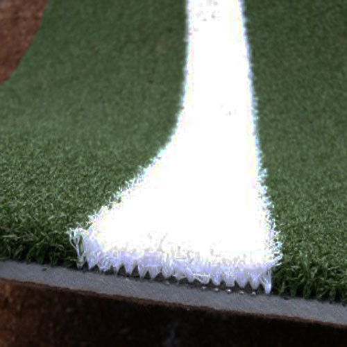 Softball Batting Mat Pro with White Inlaid Turf Lines