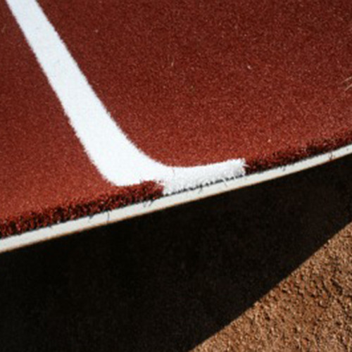 Clay Softball Batting Mat Pro with White Inlaid Turf Lines