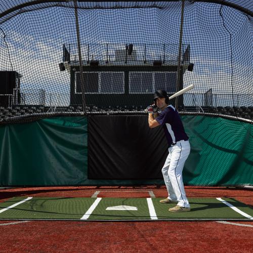 12' x 7' Clay Softball Batting Mat Pro (lined)
