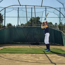 Plain Green Softball Batting Mat Pro