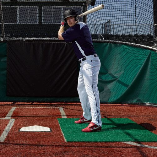 3' x 7' Green Stance Batting Mat Pro