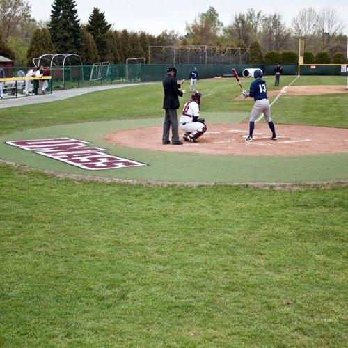 10' Wide Custom Home Plate Halo for Baseball & Softball Fields