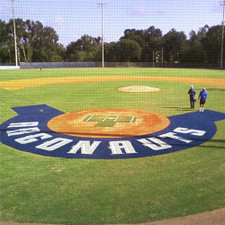 5' Custom Home Plate Halo with Wings from On Deck Sports
