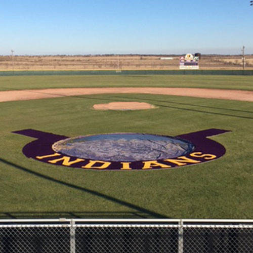 5' Home Plate Halo with Wings and Shock Pad for Baseball & Softball Fields