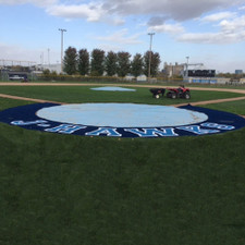 Artificial Turf 5' Home Plate Halo with Shock Pad from On Deck Sports