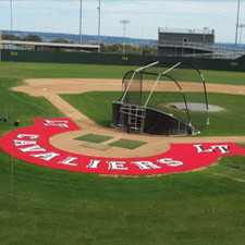 10' Artificial Turf Home Plate Halo with Wings & Shock Pad from On Deck Sports
