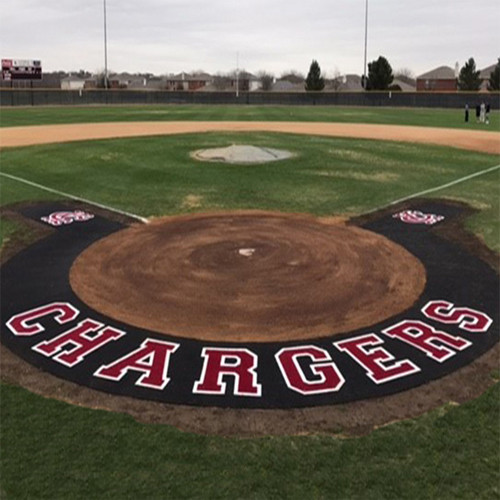 Artificial Turf Custom 10' Home Plate Halo with Wings & Shock Pad