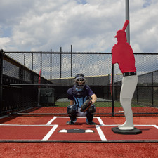Green Batting Mat Pro with Catcher's Extension