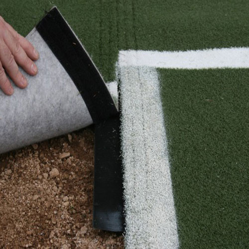 Batting Mat Pro with Catcher's Extension & White Inlaid Turf Lines