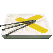 Set of Three Soft Touch Spike Down Bases for Baseball & Softball Fields, Bases Only
