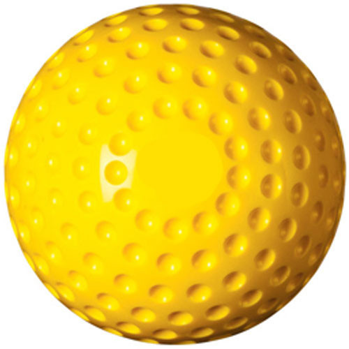 Dimpled Yellow Pitching Machine Baseballs from On Deck Sports