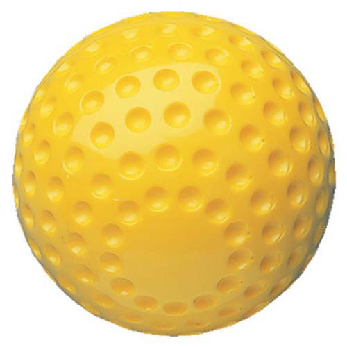 """12"""" Dimpled Yellow Softball from On Deck Sports"""