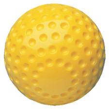 """11"""" Dimpled Yellow Softball from On Deck Sports"""
