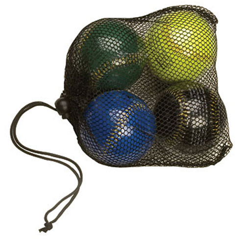Set of Four Weighted Training Baseballs with Mesh Carry Bag from On Deck Sports