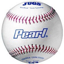 Four Dozen Jugs Pearl Leather Pitching Machine Baseballs in Bucket