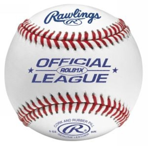 Five Dozen Rawlings ROLB1X Baseballs with On Deck Sports Padded Ball Bucket