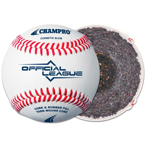 Five Dozen Champion OLB5 Bucket Raised Seam Youth League Practice Baseballs with On Deck Sports Ball Bucket