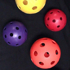 Set of Six Colored Whiffle Baseballs from On Deck Sports