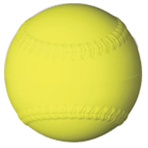 Yellow Safety Softball from On Deck Sports
