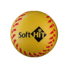 Yellow Soft Hit Training Baseballs for Indoor and Outdoor Use