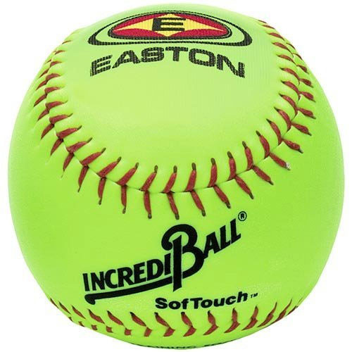 "12"" Easton SofTouch Incrediball Neon Yellow Softball from On Deck Sports"