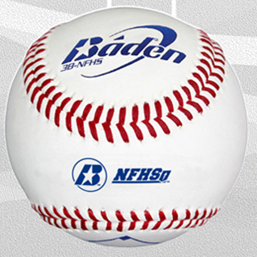 One Dozen Baden 3B-NFHS Raised Seam High School Baseballs
