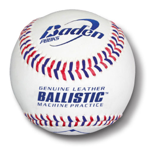 Baden Ballistic Leather Pitching Machine Baseballs from On Deck Sports