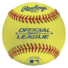 Optic Yellow Rawlings ROLB1Y Softballs from On Deck Sports