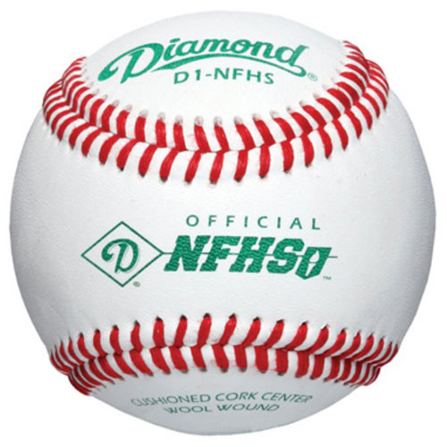 One Dozen Diamond D1-NFHS Raised Seam High School Baseballs