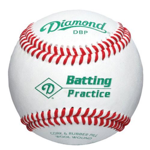 One Dozen White Diamond Batting Practice Baseballs from On Deck Sports