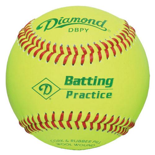 One Dozen Yellow Diamond Batting Practice Baseballs