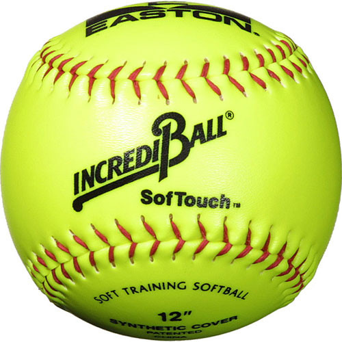"11"" Neon Yellow Easton SofTouch IncrediBalls Softballs from On Deck Sports"