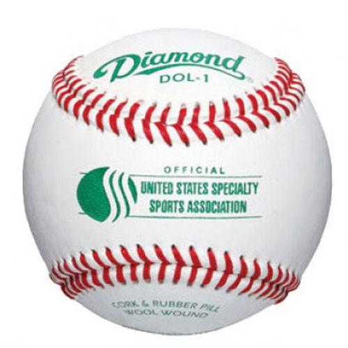 One Dozen Diamond DOL-1 USSSA Raised Seam USSSA Youth Baseballs from On Deck Sports