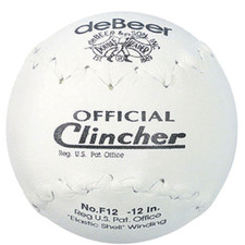 "12"" DeBeer Official Clincher Softball from On Deck Sports"