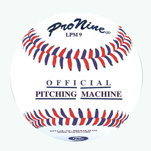pro nine pitching machine baseballs
