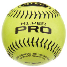 One Dozen Yellow ATEC HI.PER Pro Softballs from On Deck Sports
