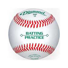 One Dozen Diamond Batting Practice Baseballs from On Deck Sports