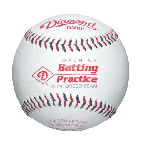 One Dozen Diamond Leather Pitching Machine Baseballs from On Deck Sports