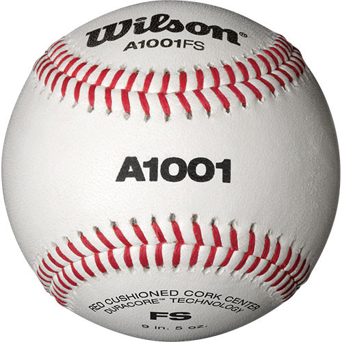 One Dozen Wilson A1001 Flat Seam Baseballs from On Deck Sports