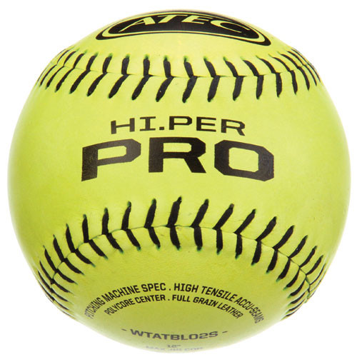 Three Dozen Yellow ATEC HI.PER Pro Softballs