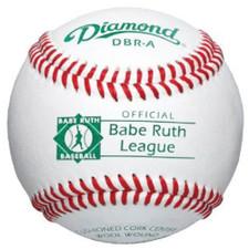 One Dozen Diamond DBR-A Raised Seam Babe Ruth League Baseballs