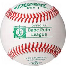 One Dozen Diamond DBR-1 Raised Seam Babe Ruth League Baseballs