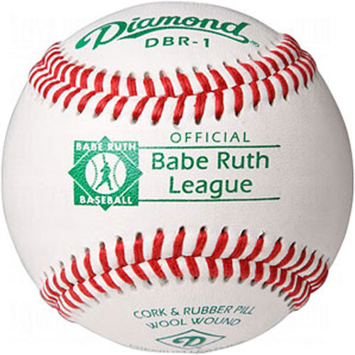 One Dozen Diamond DBR-1 Raised Seam Babe Ruth League Baseballs